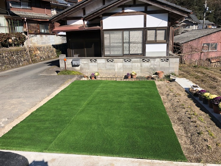 住宅 人工芝 施工実例