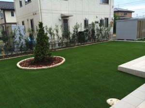 人工芝を使った庭づくり