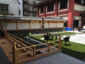 結婚式場の人工芝
