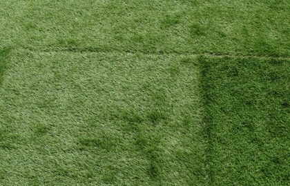 人工芝でこぼこ