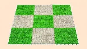 グレーの人工芝